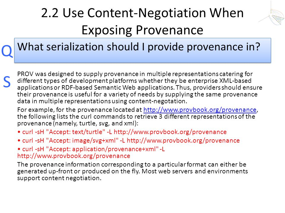 2.2 Use Content-Negotiation When Exposing Provenance