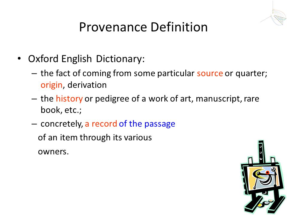 Provenance Definition