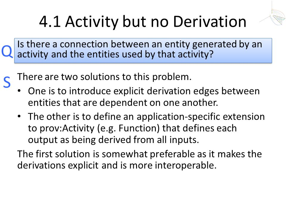 4.1 Activity but no Derivation