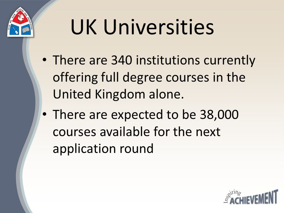 Applying to High Status Universities: The Russell Group