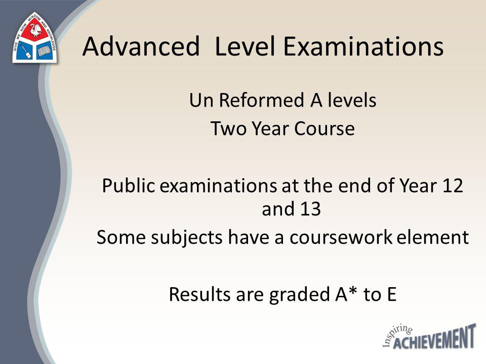 Advanced Level Examinations