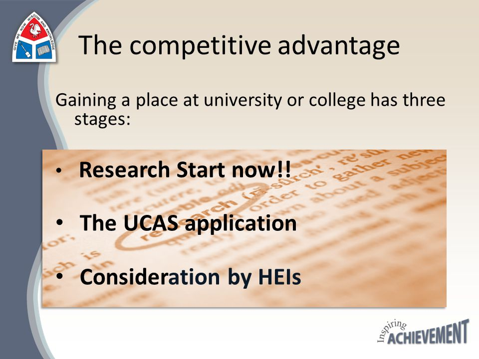 We offer a structured programme of preparation for HE