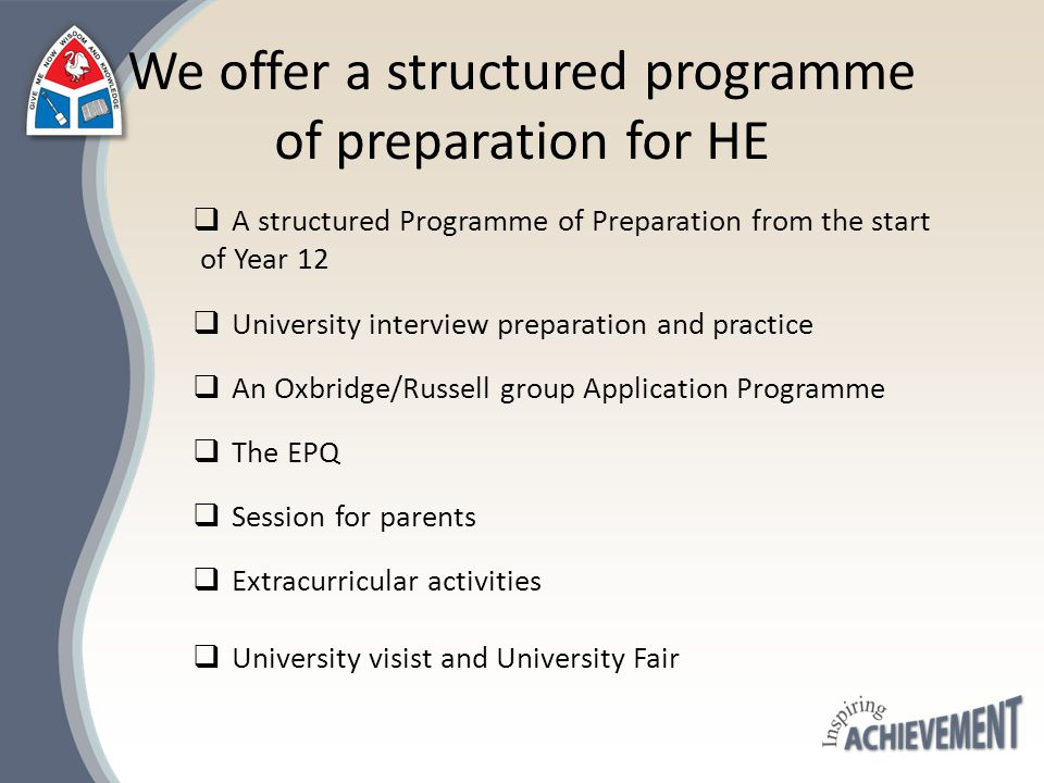 Oxbridge/Russell Group Application Programme