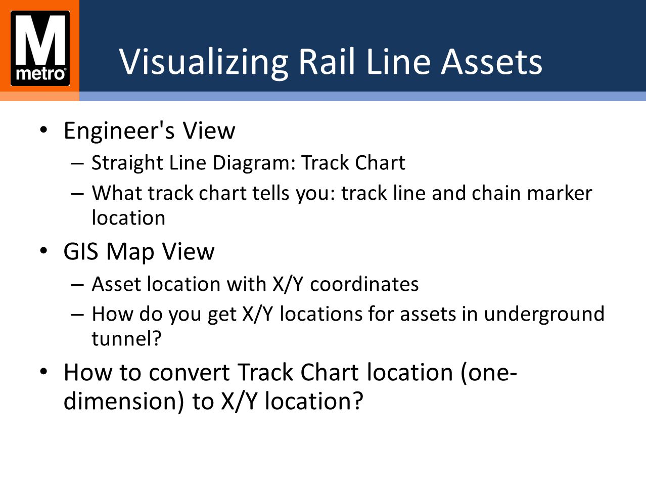 Visualizing Rail Line Assets