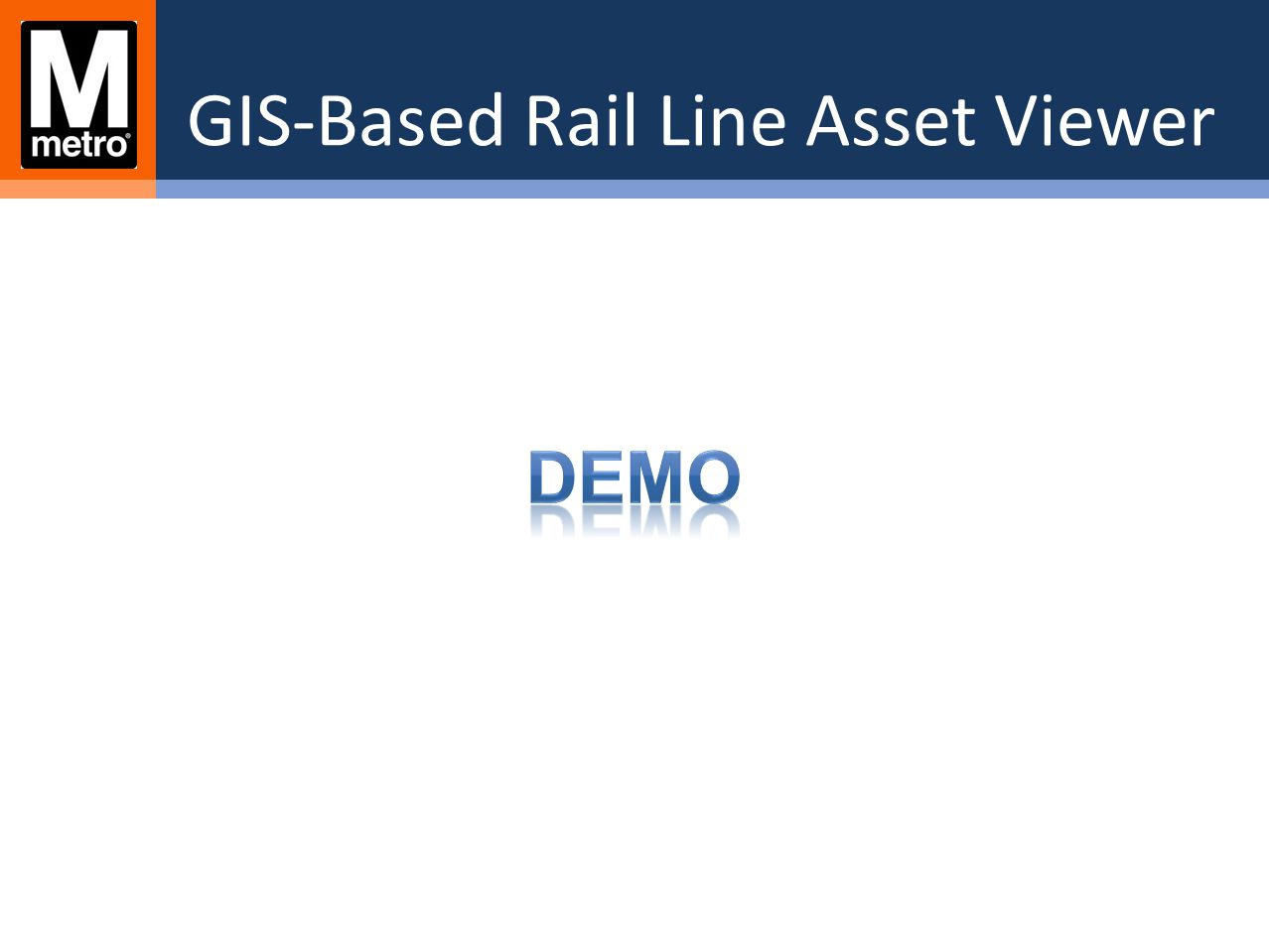 GIS-Based Rail Line Asset Viewer