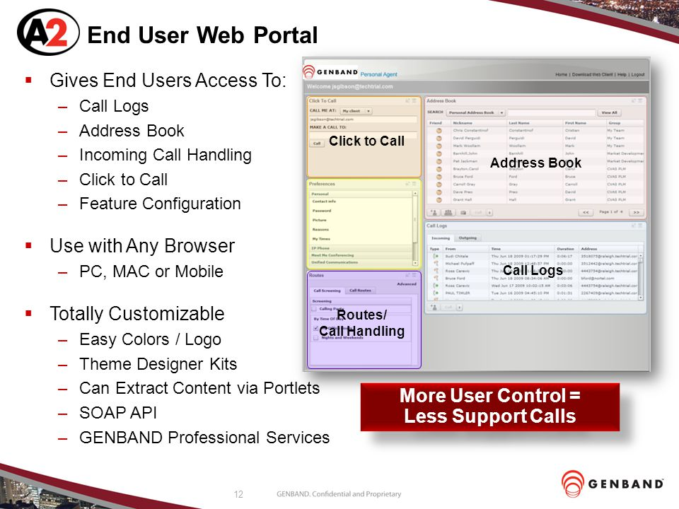 End User Web Portal Gives End Users Access To: Use with Any Browser