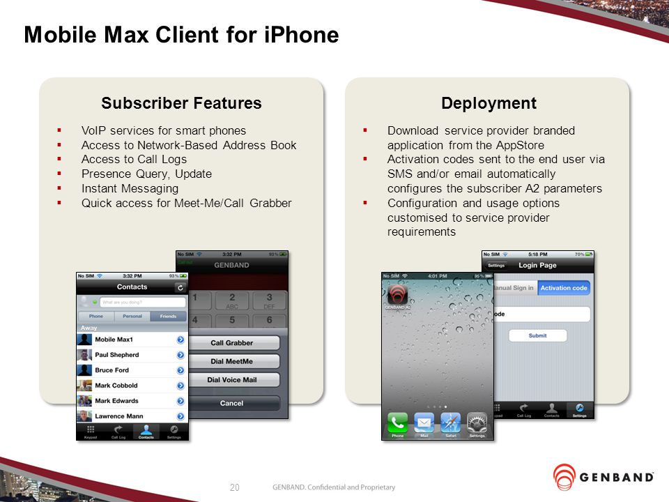 Mobile Max Client for iPhone