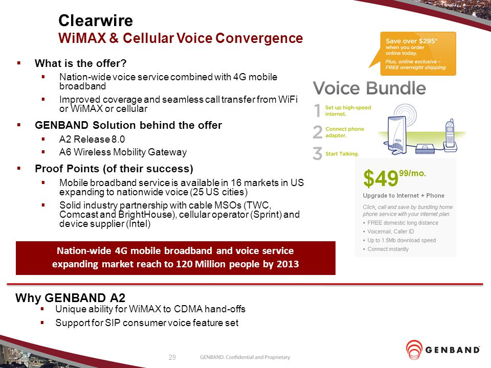 Clearwire WiMAX & Cellular Voice Convergence