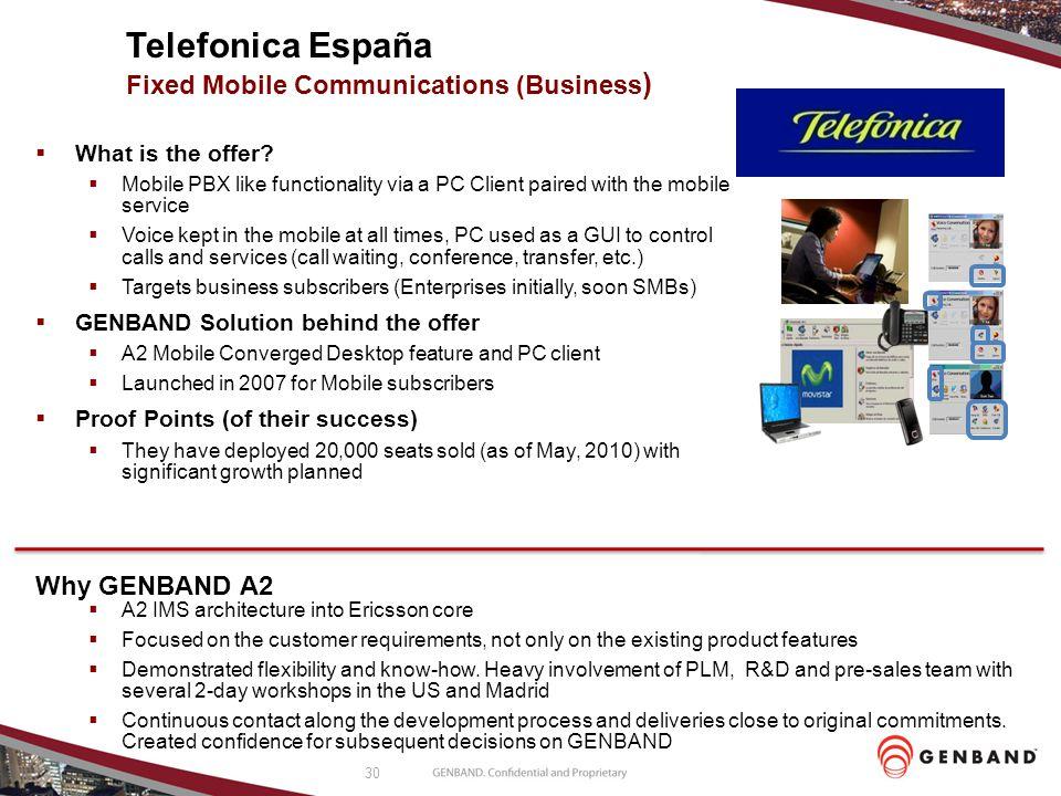Telefonica España Fixed Mobile Communications (Business)