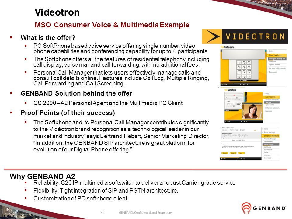 Videotron MSO Consumer Voice & Multimedia Example