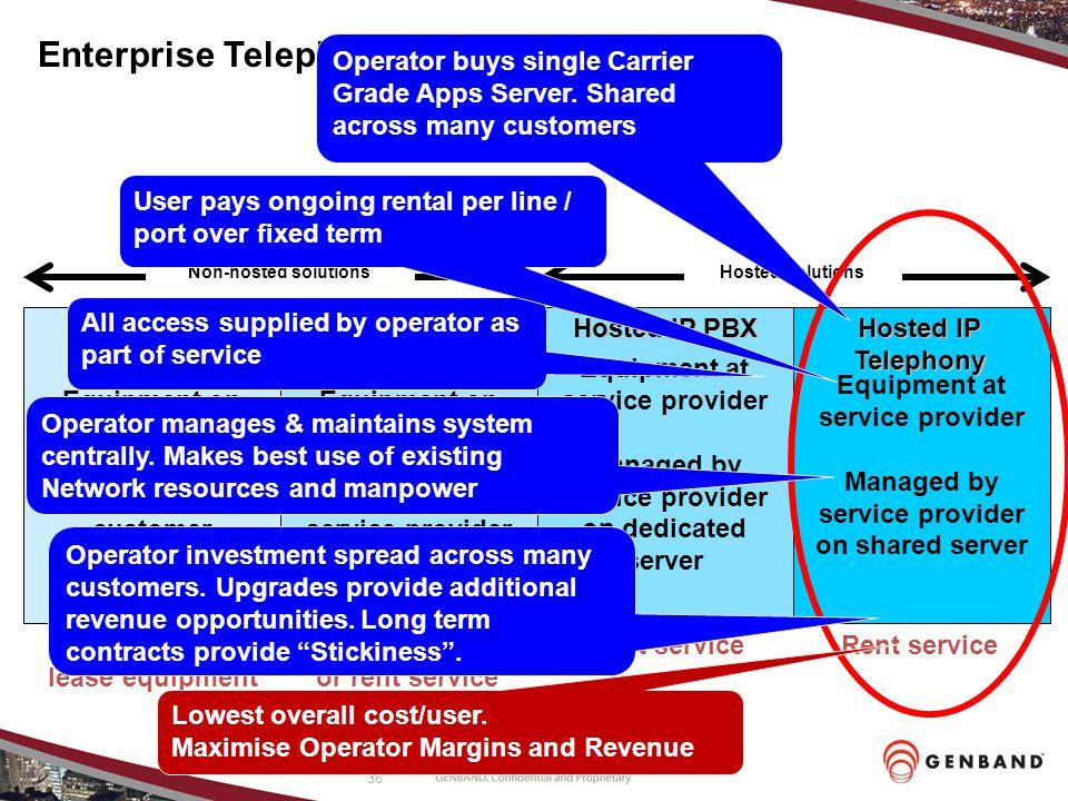 Enterprise Telephony Options