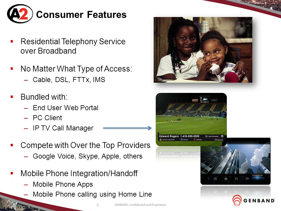 Consumer Features Residential Telephony Service over Broadband