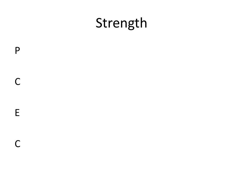 Strength P C E