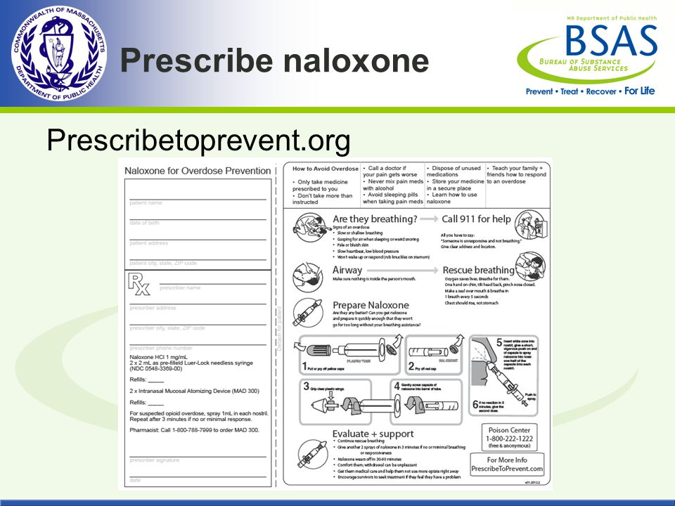 Prescribe naloxone Prescribetoprevent.org