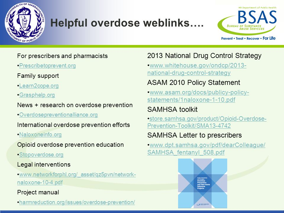 Helpful overdose weblinks….