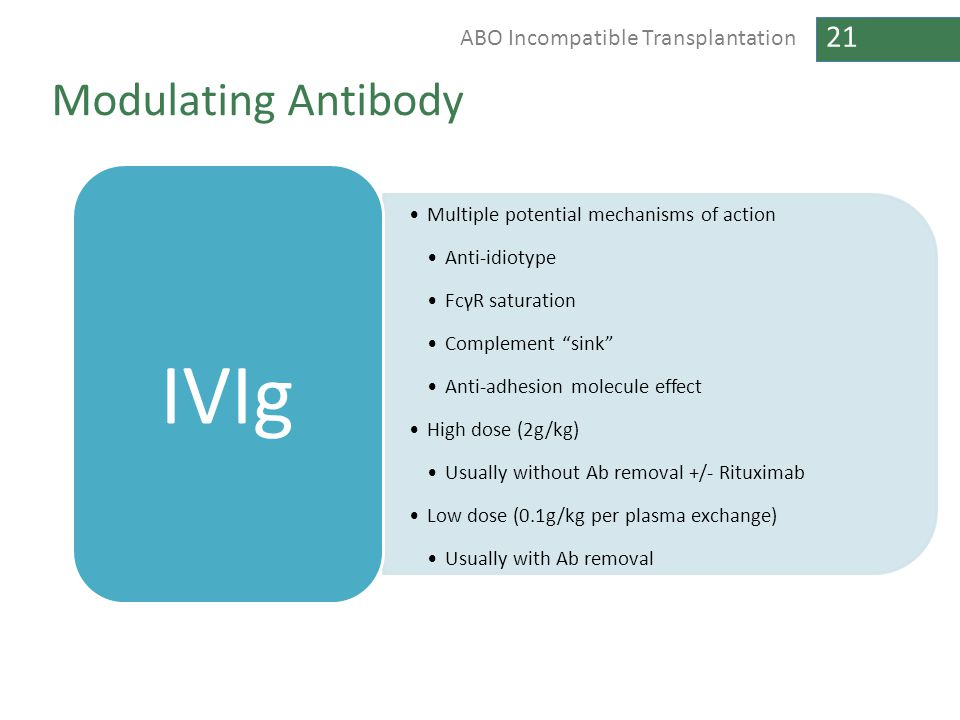 IVIg Modulating Antibody Multiple potential mechanisms of action
