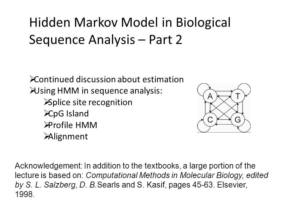 Hidden Markov Model in Biological Sequence Analysis – Part 2