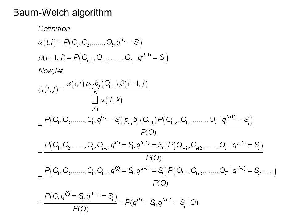 Baum-Welch algorithm