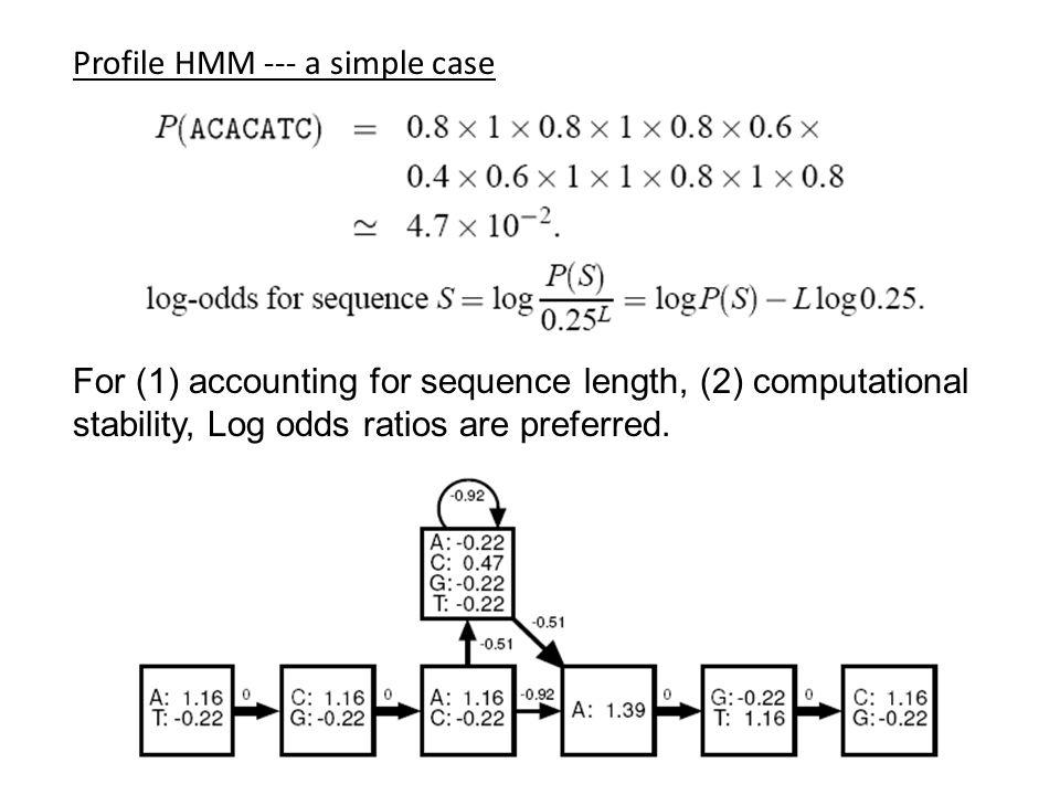 Profile HMM --- a simple case