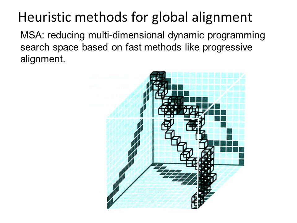 Heuristic methods for global alignment