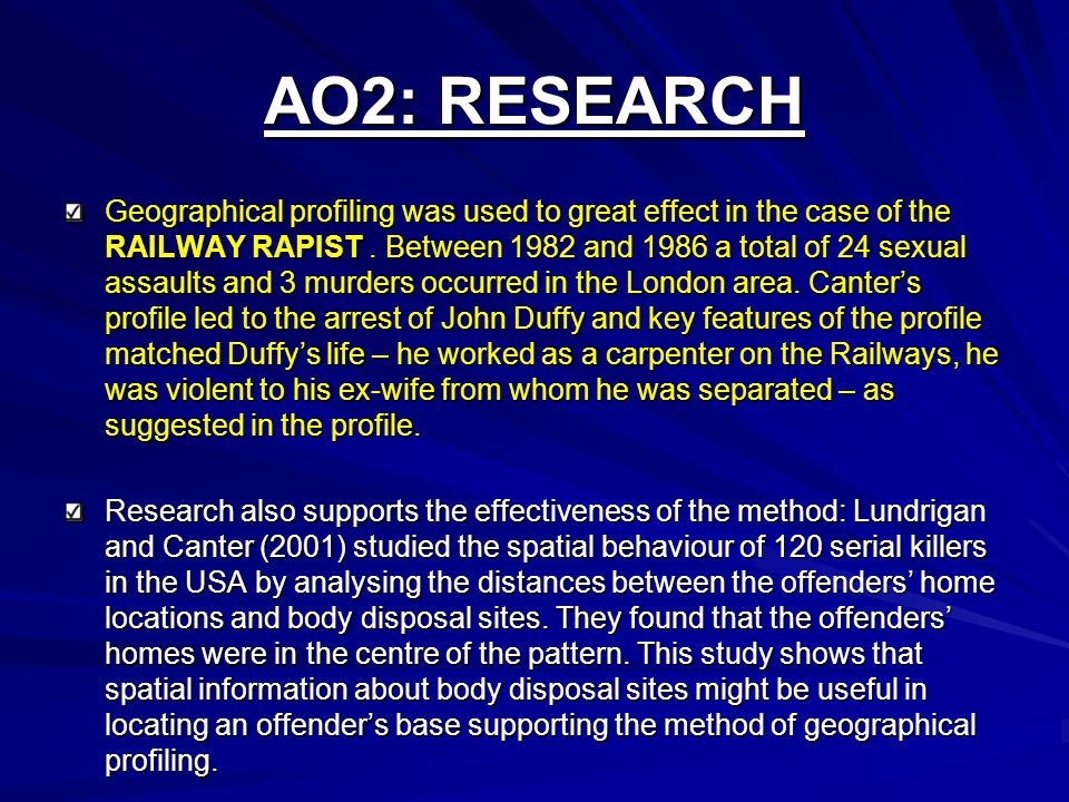 AO2: RESEARCH