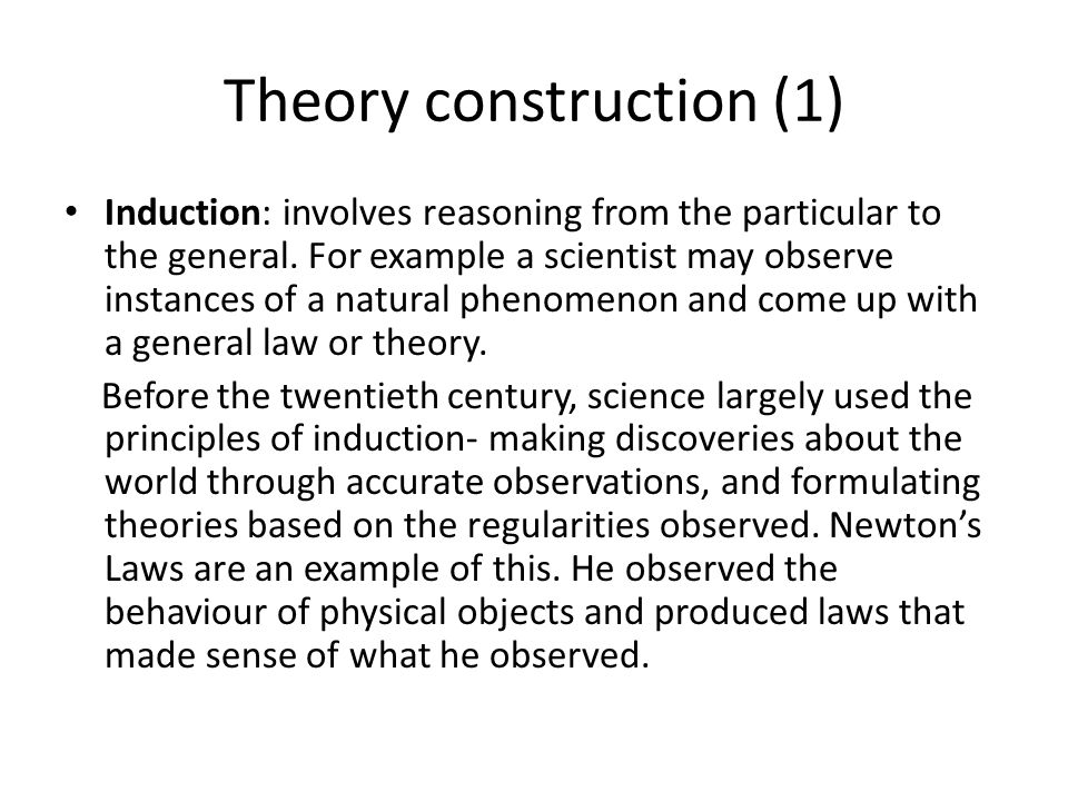 Theory construction (1)