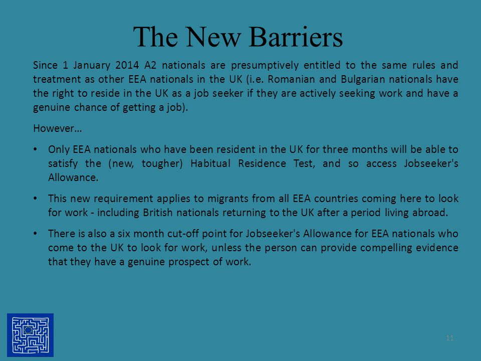 The New Barriers