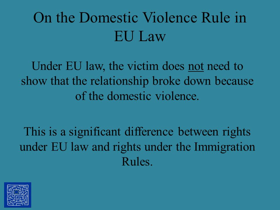 On the Domestic Violence Rule in EU Law