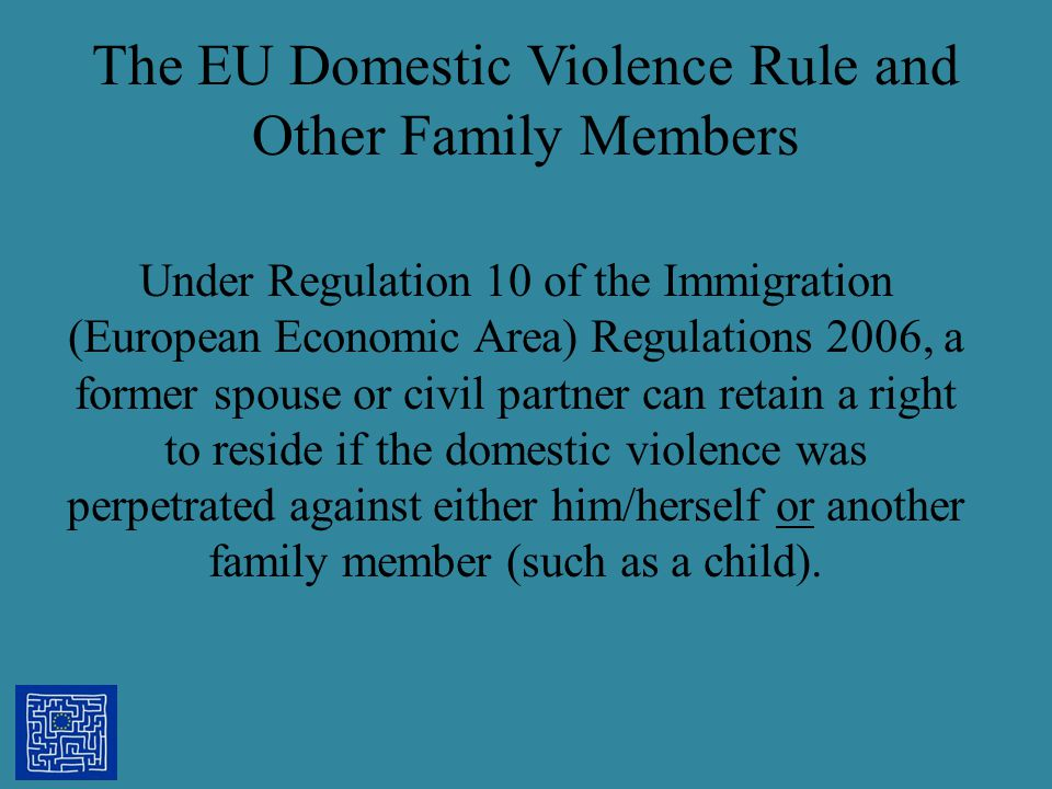 The EU Domestic Violence Rule and Other Family Members