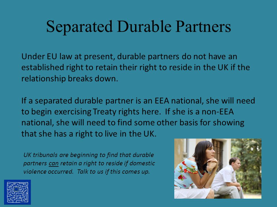 Separated Durable Partners
