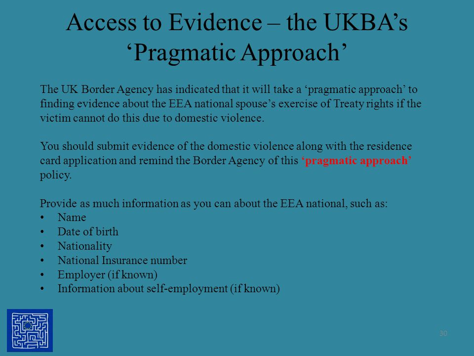 Access to Evidence – the UKBA's 'Pragmatic Approach'