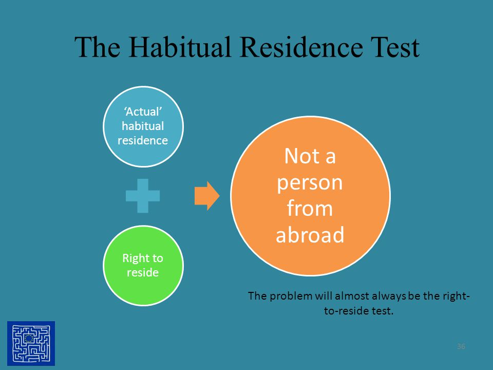 The Habitual Residence Test