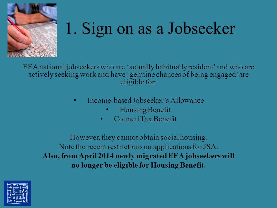 1. Sign on as a Jobseeker