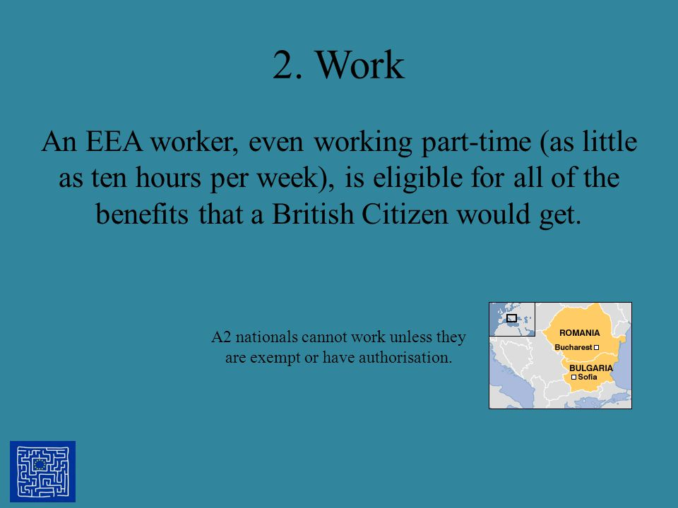 A2 nationals cannot work unless they are exempt or have authorisation.