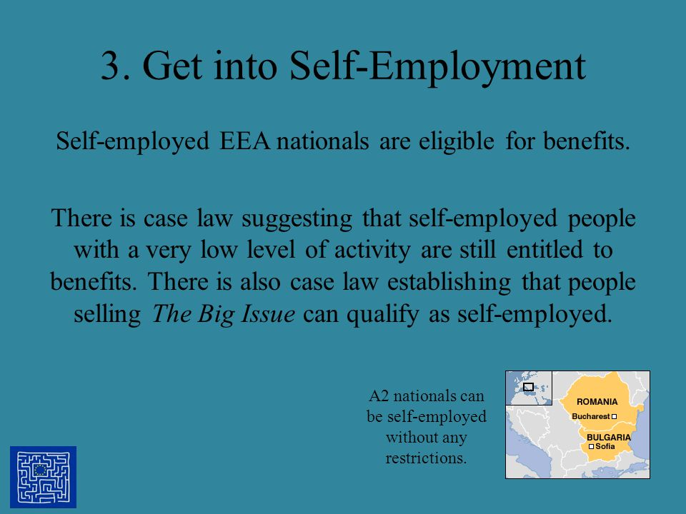 3. Get into Self-Employment