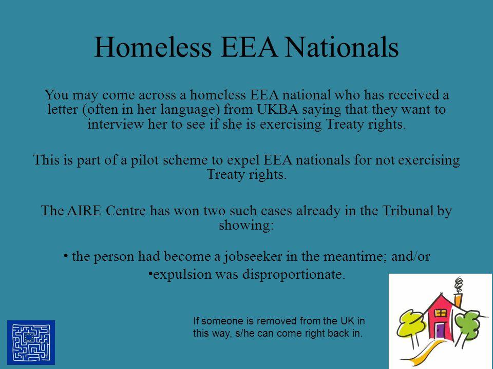 Homeless EEA Nationals