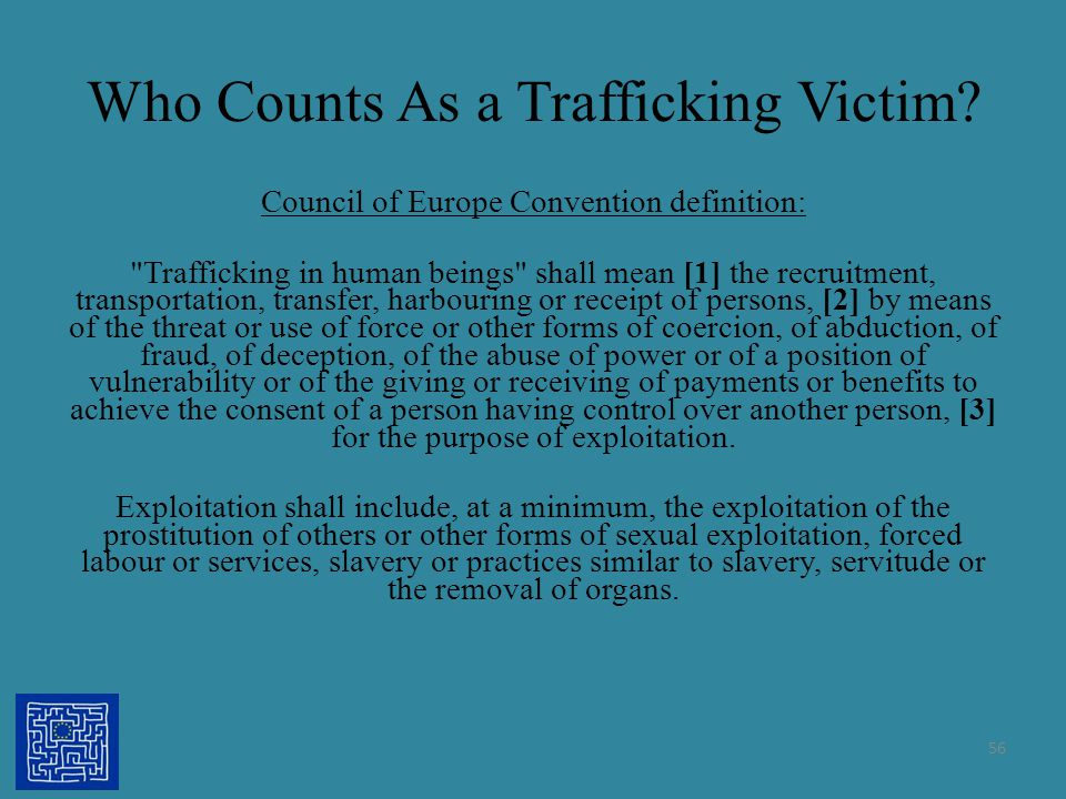 Who Counts As a Trafficking Victim