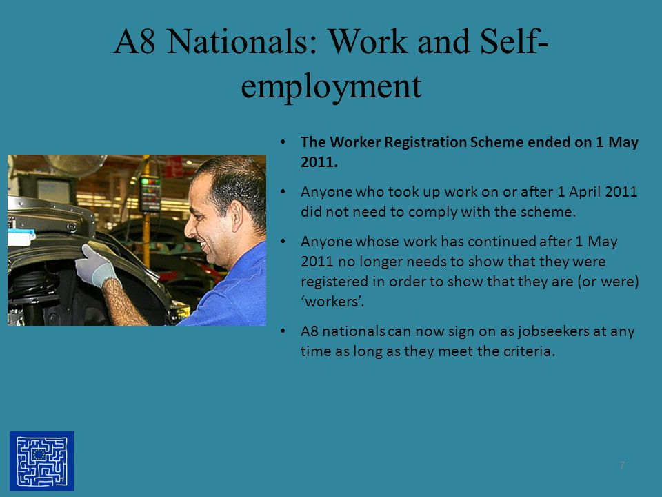 A8 Nationals: Work and Self-employment