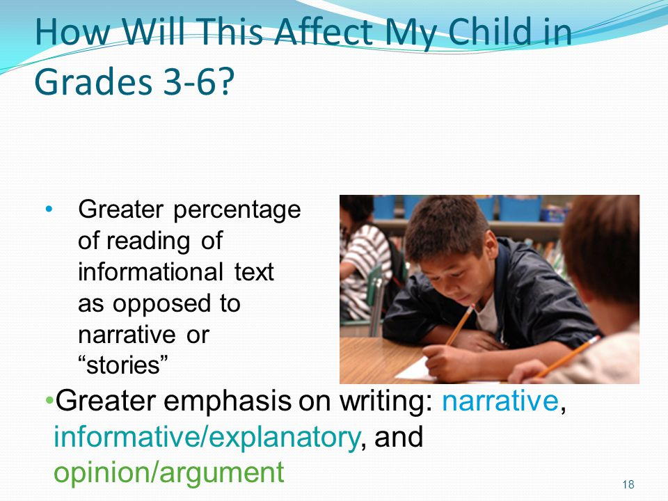 How Will This Affect My Child in Grades 3-6