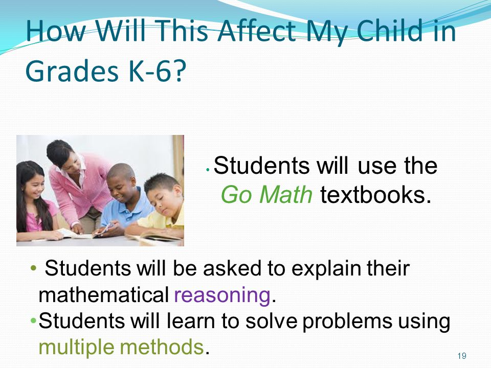 How Will This Affect My Child in Grades K-6