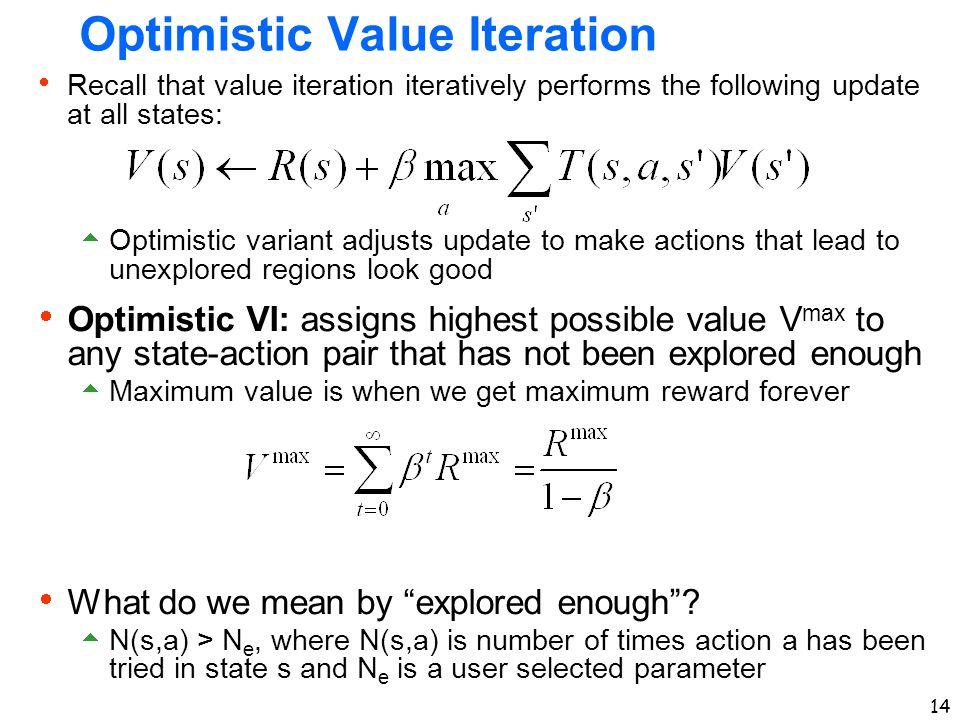 Optimistic Value Iteration