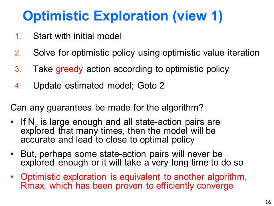 Optimistic Exploration (view 1)