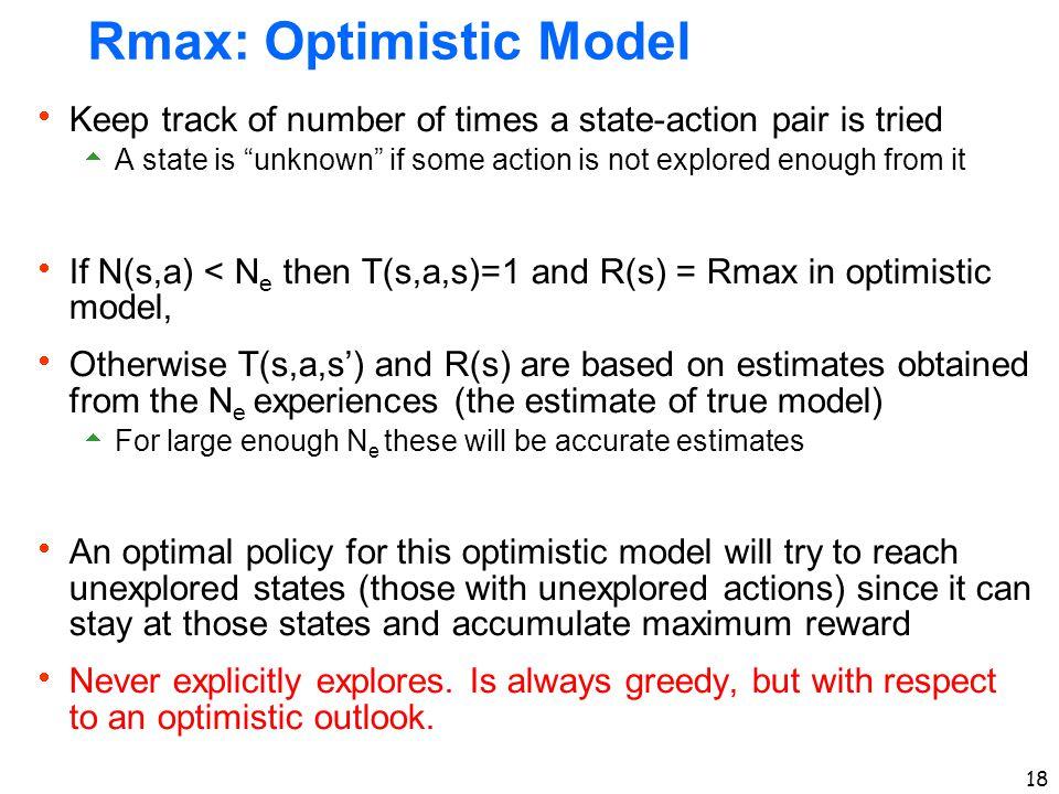 Rmax: Optimistic Model