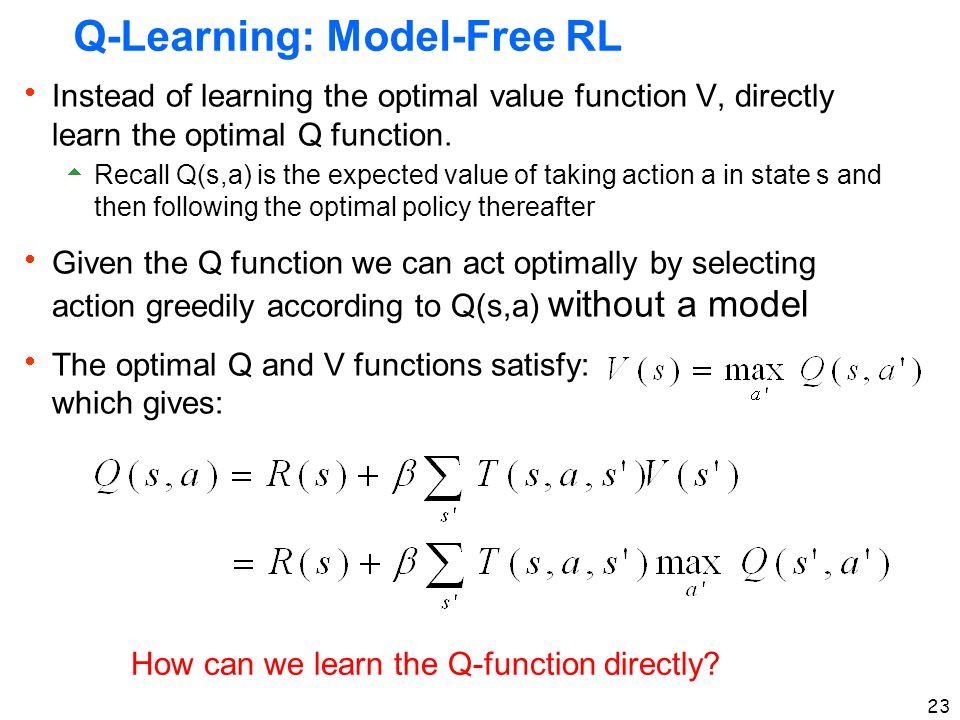 Q-Learning: Model-Free RL