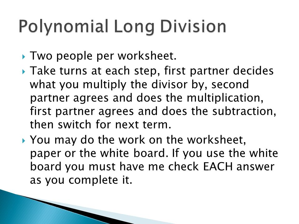 Chapter 6 Polynomial Functions ppt video online download – Polynomial Division Worksheet