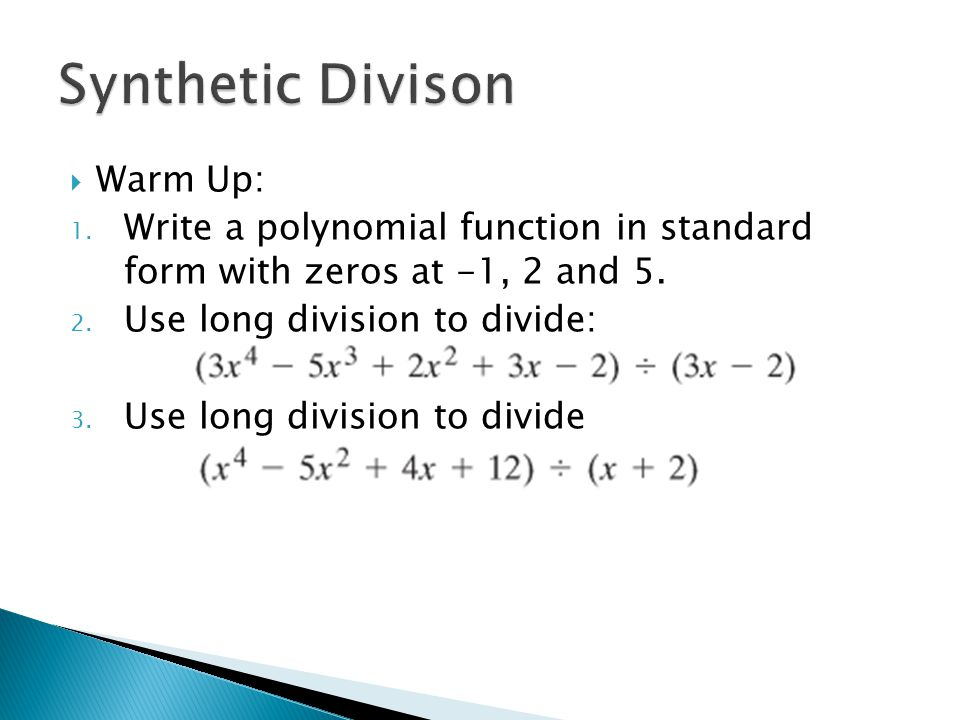 How To Write A Polynomial In Standard Form With Given Roots