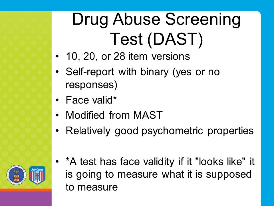 Drug Abuse Screening Test (DAST)