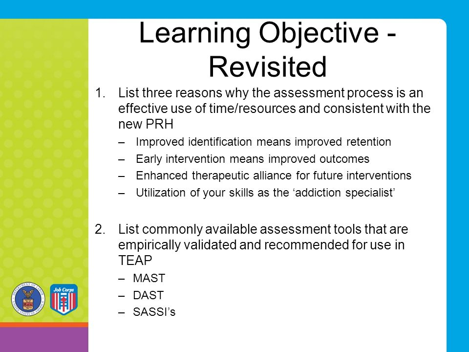Learning Objective - Revisited
