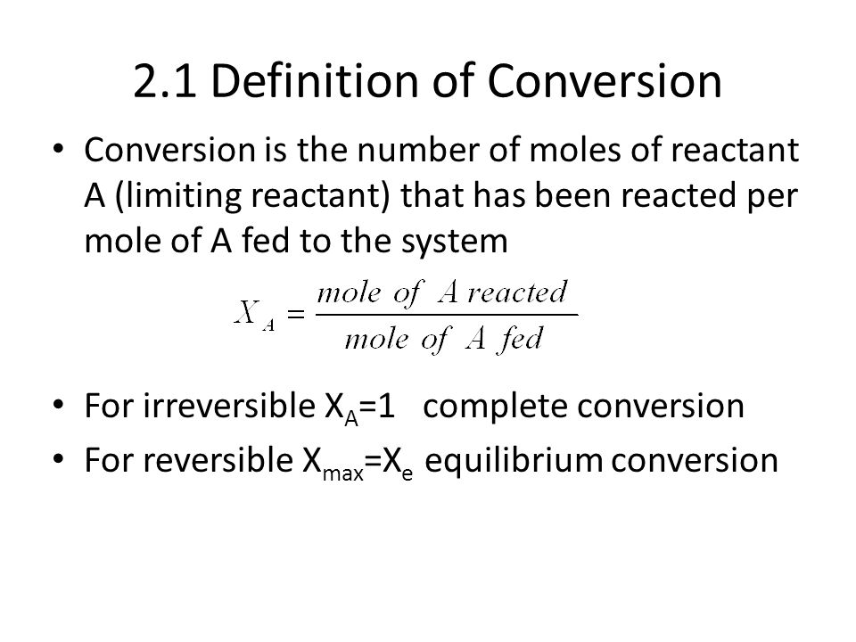 2.1 Definition of Conversion