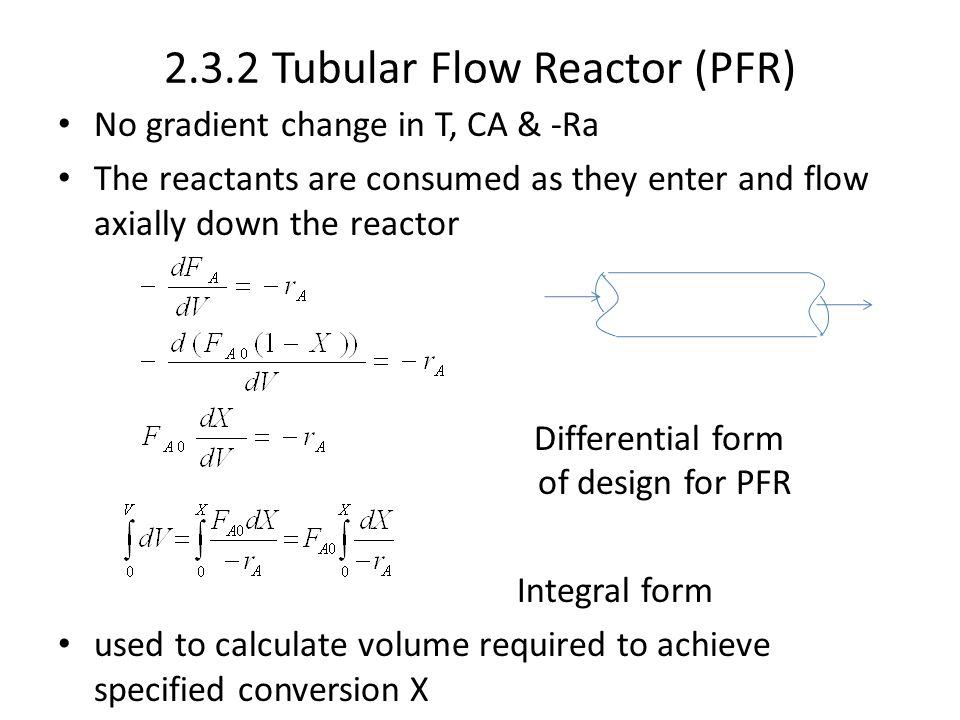 2.3.2 Tubular Flow Reactor (PFR)